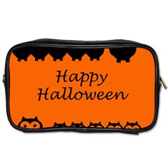 Happy Halloween   Owls Toiletries Bags by Valentinaart