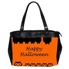Happy Halloween   Owls Office Handbags (2 Sides)  by Valentinaart