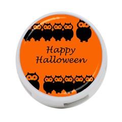 Happy Halloween - owls 4-Port USB Hub (One Side)