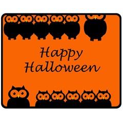 Happy Halloween - owls Fleece Blanket (Medium)