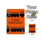 Happy Halloween - owls Playing Cards 54 (Mini)  Front - SpadeK
