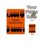 Happy Halloween - owls Playing Cards 54 (Mini)  Front - Diamond4