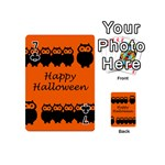 Happy Halloween - owls Playing Cards 54 (Mini)  Front - Club7