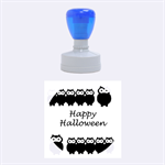 Happy Halloween - owls Rubber Round Stamps (Medium) 1.5 x1.5  Stamp