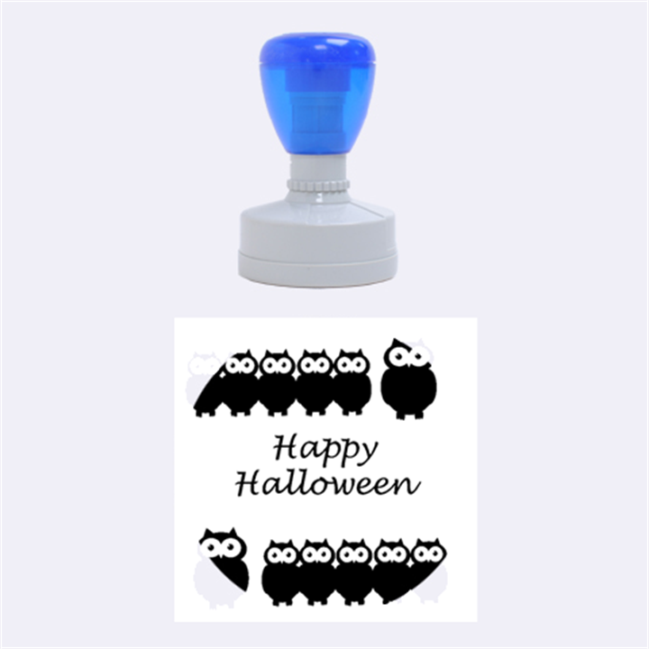 Happy Halloween - owls Rubber Round Stamps (Medium)