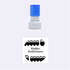 Happy Halloween   Owls Rubber Round Stamps (small)