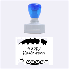 Happy Halloween   Owls Rubber Oval Stamps by Valentinaart