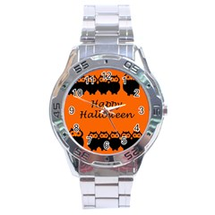 Happy Halloween   Owls Stainless Steel Analogue Watch