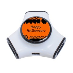 Happy Halloween   Owls 3 Port Usb Hub