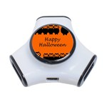 Happy Halloween - owls 3-Port USB Hub Front