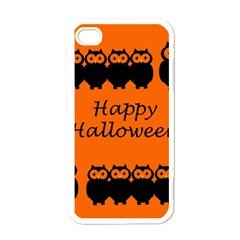 Happy Halloween   Owls Apple Iphone 4 Case (white)