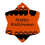 Happy Halloween - owls Ornament (Snowflake)  Front