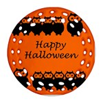 Happy Halloween - owls Round Filigree Ornament (2Side) Back