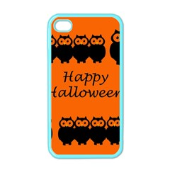 Happy Halloween   Owls Apple Iphone 4 Case (color)