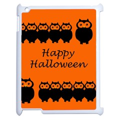 Happy Halloween   Owls Apple Ipad 2 Case (white)