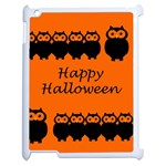 Happy Halloween - owls Apple iPad 2 Case (White) Front