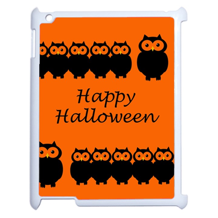 Happy Halloween - owls Apple iPad 2 Case (White)