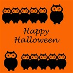 Happy Halloween - owls Happy Birthday 3D Greeting Card (8x4) Inside