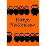 Happy Halloween - owls BOY 3D Greeting Card (7x5) Inside