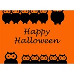 Happy Halloween - owls BOY 3D Greeting Card (7x5) Back