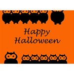 Happy Halloween - owls Circle 3D Greeting Card (7x5) Back