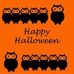 Happy Halloween - owls BELIEVE 3D Greeting Card (8x4) Inside