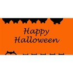 Happy Halloween - owls Best Wish 3D Greeting Card (8x4) Front