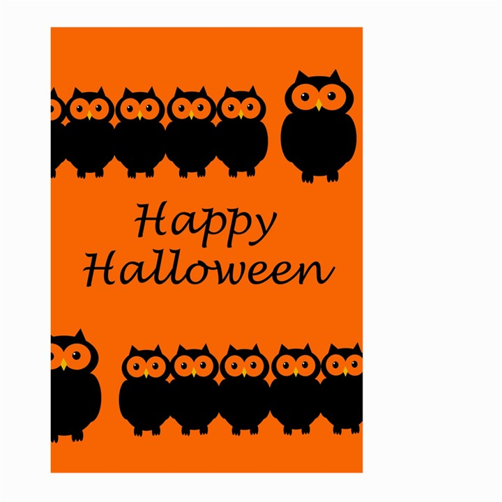 Happy Halloween - owls Large Garden Flag (Two Sides)