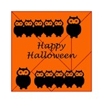 Happy Halloween - owls Acrylic Tangram Puzzle (6  x 6 )