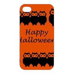 Happy Halloween   Owls Apple Iphone 4/4s Premium Hardshell Case