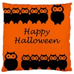 Happy Halloween - owls Large Cushion Case (One Side) Front