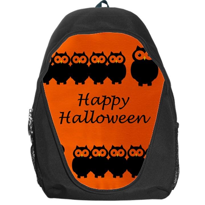 Happy Halloween - owls Backpack Bag