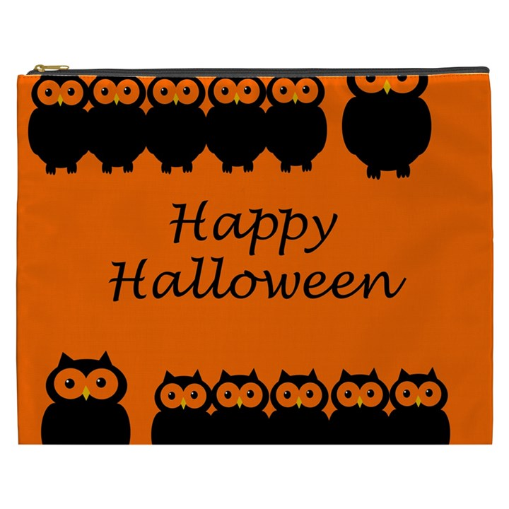 Happy Halloween - owls Cosmetic Bag (XXXL)