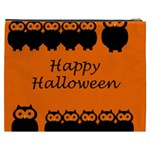 Happy Halloween - owls Cosmetic Bag (XXXL)  Back