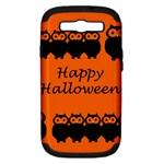 Happy Halloween - owls Samsung Galaxy S III Hardshell Case (PC+Silicone)