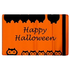 Happy Halloween   Owls Apple Ipad 2 Flip Case