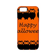 Happy Halloween   Owls Apple Iphone 5 Classic Hardshell Case (pc+silicone)