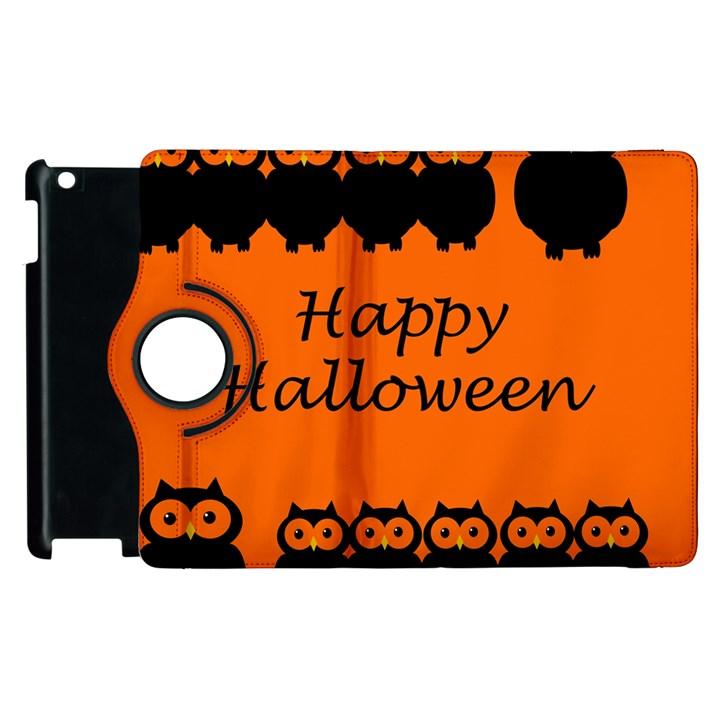 Happy Halloween - owls Apple iPad 3/4 Flip 360 Case