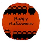 Happy Halloween - owls Large 18  Premium Round Cushions Front