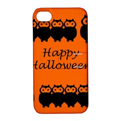 Happy Halloween   Owls Apple Iphone 4/4s Hardshell Case With Stand