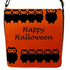 Happy Halloween   Owls Flap Messenger Bag (s)