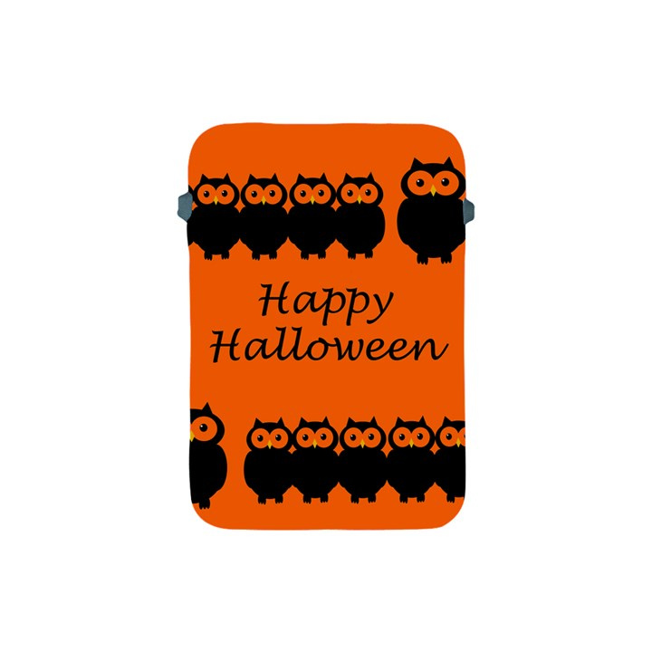 Happy Halloween - owls Apple iPad Mini Protective Soft Cases