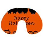 Happy Halloween - owls Travel Neck Pillows Front
