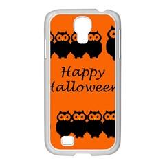 Happy Halloween - owls Samsung GALAXY S4 I9500/ I9505 Case (White)