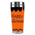 Happy Halloween - owls Stainless Steel Travel Tumblers Center