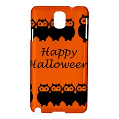 Happy Halloween   Owls Samsung Galaxy Note 3 N9005 Hardshell Case