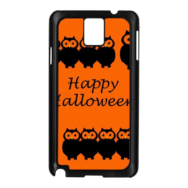 Happy Halloween - owls Samsung Galaxy Note 3 N9005 Case (Black)