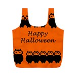 Happy Halloween - owls Full Print Recycle Bags (M)  Front