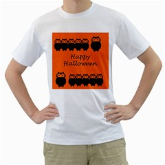 Happy Halloween - owls Men s T-Shirt (White)
