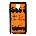 Happy Halloween - owls Samsung Galaxy Note 3 Neo Hardshell Case (Black) Front